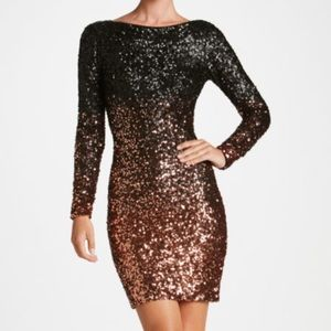 NEW Dress the Population Lola Ombre Sequin Dress